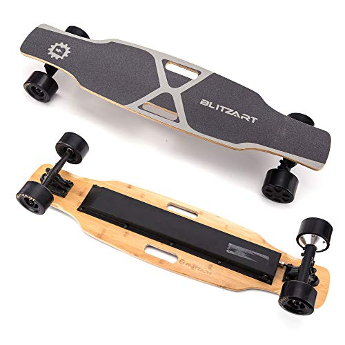 "BLITZART X-Plore 38"" Electric Skateboard Longboard E-Skateboard Motorized Electronic Skateboard 17mph 3.5"" Brushless Hub-Motor Wheel(Black)"