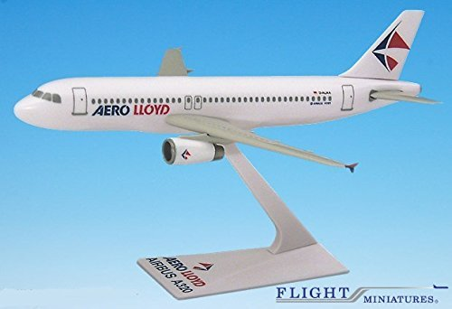 A320 Model (Aerolloyd (96-03) Airbus A320-200 Airplane Miniature Model Snap Fit Kit 1:200 Part# AAB-32020H-046)