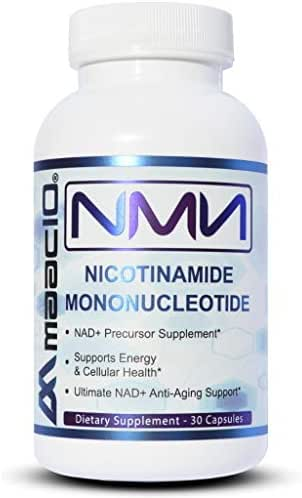 MAAC10 NMN Nicotinamide Mononucleotide Supplement (NMN 125mg Capsules). The Most Powerful NAD+ Precursor More Stable Than Riboside. Supports DNA-Repair, Sirtuin Activation and Energy (30 Count).