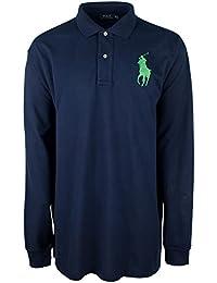 Men\u0027s Big \u0026 Tall Big Pony Long Sleeve Shirt-NN-5XB