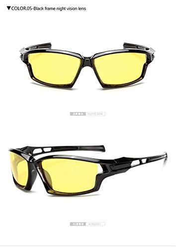 3841367fc1e Lepakshi Night Vision  Longkeeper 2017 Mens Polarized Cycling Sunglasses  Biking Driving Sun Glasses Men Women Goggle Night Vision Yellow Lens Eyewear   ...