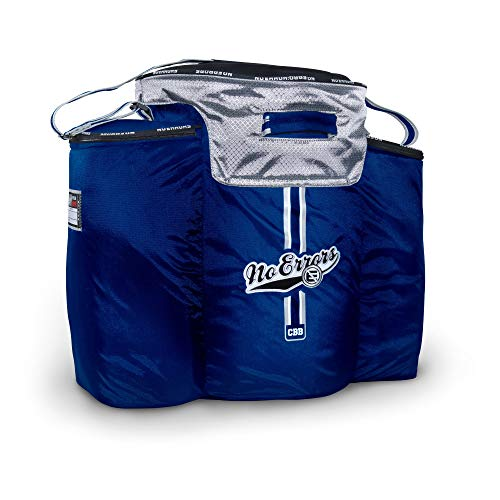 No Errors Ball Buddy Baseball Coaches Bag - Heavy Duty Baseball Equipment Bag for Coaches with Built-in Cooler - Holds 6 Gallon Bucket of Balls and Coaching Equipment (Navy) ()