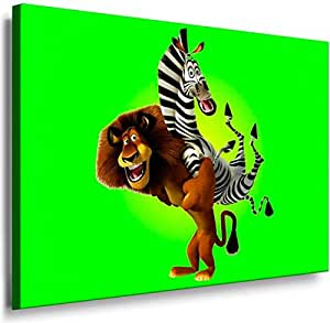 Cartoon Characters- 8009, Printed On Canvas 100x70cm, With Wooden Frame