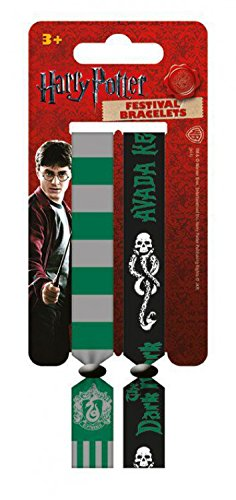 Harry Potter wristband for collectors - Slytherin, Set Of 2 10mm Wristbands (4 x 1 inches)