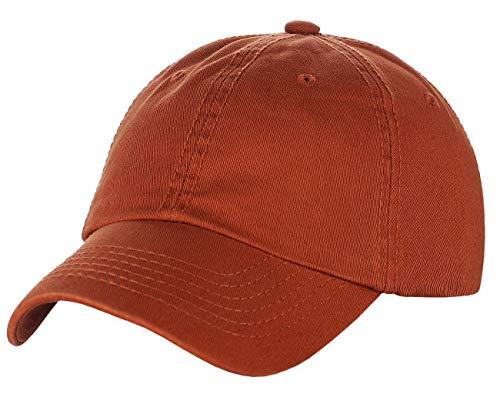 (NYFASHION101 Unisex Adjustable 6-Panel Low-Profile Baseball Cap LOW100- EP Rust)