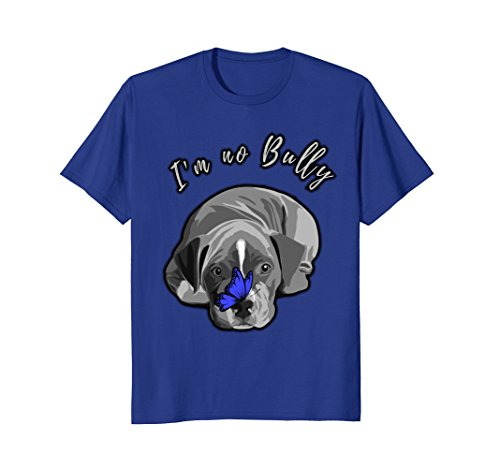 I'm No Bully Pit Bull Tee Shirt Puppy and Butterfly (Puppies Pit Red Nose Bull)