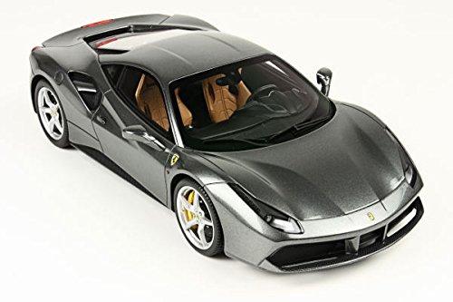 フェラーリ488GTB–Grigio Ferroモデルカーin 1: 18スケールby BBR