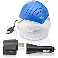 Blue Mini Desktop Water Based Air Purifier Humidifier Aroma Therapy and Air Cleaner by New Comfort