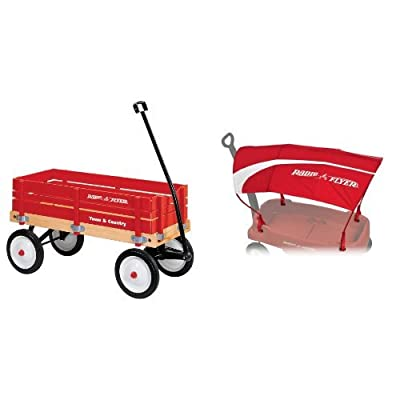 Radio Flyer Town and Country Wagon with Wagon Canopy Bundle: Toys & Games [5Bkhe0305675]