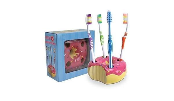 Donut de mesa con soporte de vaso para cepillo de dientes con ...