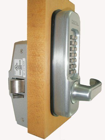 Lockey 115-P-MG Left Mechanical Keyless Heavy Duty Lever Panic Trim - Marine Grade