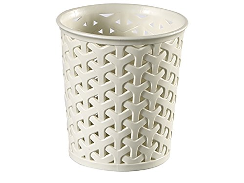 Curver Faux Rattan Dresser Storage Pot - Small (Perfect For Make-Up Brushes, Stationary) RRS