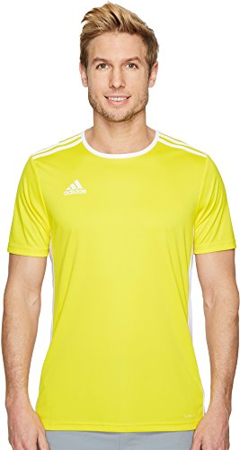 adidas Mens Soccer Entrada 18 Jersey, Yellow/White, X-Large