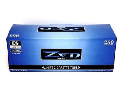 Zen Blue Light King Cigarette Tubes Box 250 ct. White Filter Tubes NEW Wholesale Cigarette Filter Tubes