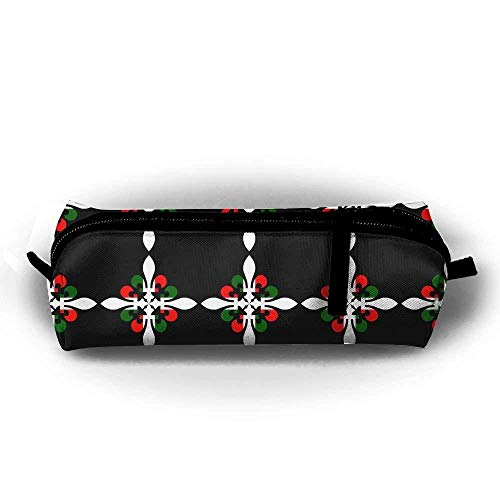 Italy Flag Flower Student Pen Pencil Case Pen Bag Durable Students Stationery with Zipper