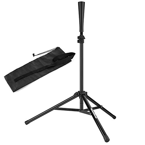 BaseGoal Batting Tee Baseball Tee Softball Travel Portable Tee Tripod Stand Rubber Tee Batting Training Practice Carrying Bag by BaseGoal