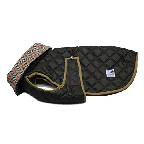Brown 65Lucas & Lola Waterproof Padded Dog Coat with Collar