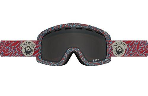 Dragon Alliance D1 OTG Pow Heads Ski Goggles, Red