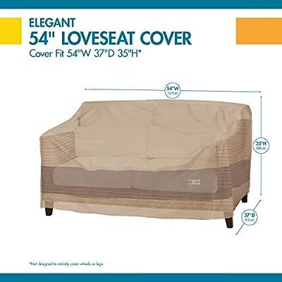 Duck Covers Elegant Water-Resistant 54 Inch Patio Loveseat Cover: Garden & Outdoor