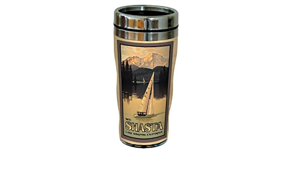 Tree-Free Greetings sg23136 Vintage Sisters Oregon Five Pine Lodge by Paul A Multicolored Lanquist Stainless Steel Sip N Go Travel Tumbler 16-Ounce