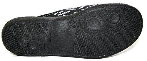Capt'n sharky chaussons-chaussures pantoufles pour garçon noir-taille 27