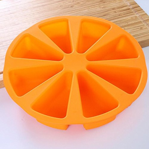 8 Cavity Scone Pans Silicone Cake Mould Baking Pastry Tools Microwave Oven Cornbread Bakeware (Bakeware Caddy)