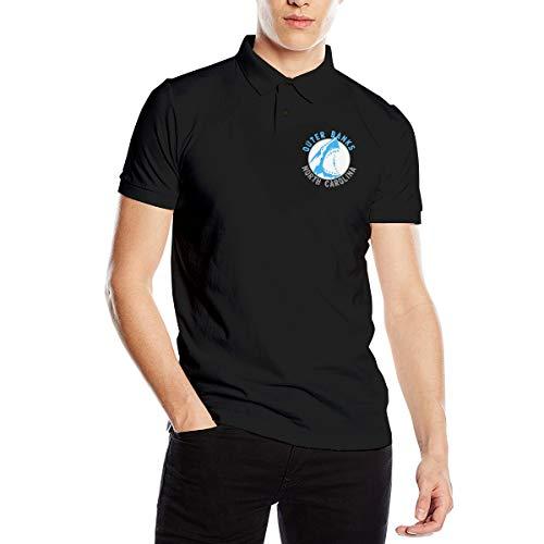 - Cjlrqone Outer Banks North Carolina Men Leisure Polo Shirts M Black