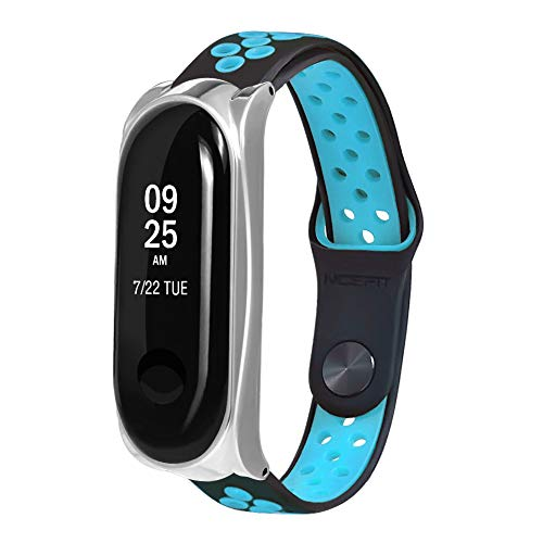 Price comparison product image Barthylomo Xiaomi Mi Band 3 Ventilate Sport Watch Replacement Band Soft Bracelet Band Watches Accessories