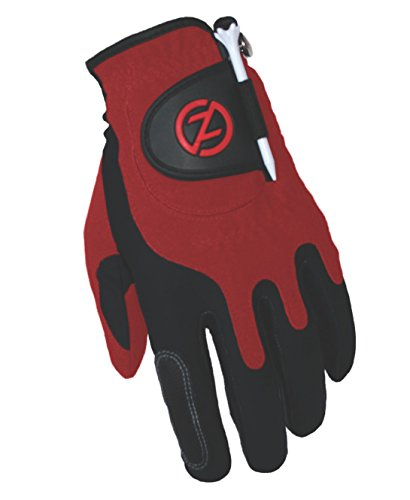 Zero Friction Men's Storm All Weather Golf Gloves, One Size, Red, Pair