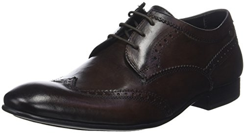 208 Base Derby London Stringate Scarpe Marrone Purcell Brown Uomo Washed wwzOqnZ4