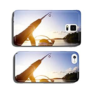 Fishing at sunset cell phone cover case iPhone5
