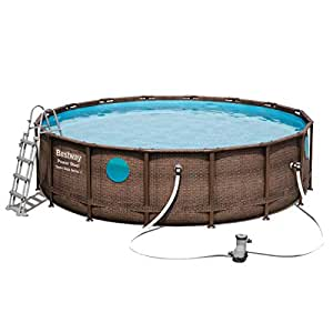 Bestway Swim Vista Series Power Steel Pool Juego, Brown: Amazon.es ...