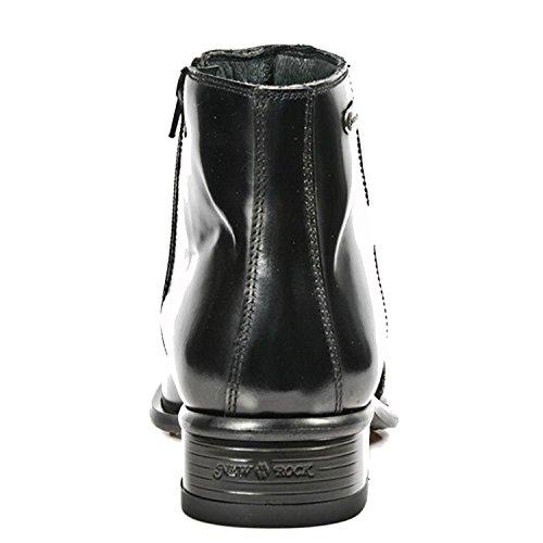 M S20 Rock Bottines Vernies 2260 Noires Occidental Métal Métallisées Chaussures New Z5Faqw5