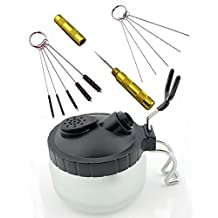 LANIAKEA Airbrush Cleaner, Washing Tools Set, Spray Gun Cleaning Pot, Nozzle Cleaning Needle, 5pcs Brushes Set, 5pcs Dredging Needles Kit