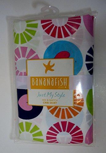 (BananaFish Studio Collection Circle & Hearts Crib Bedding Skirt)