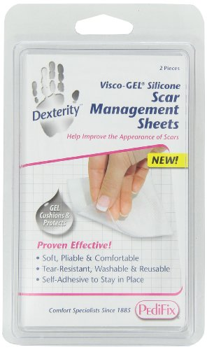 PediFix Dexterity Visco-gel Silicone Scar Management Sheets, 2-Count from Pedifix