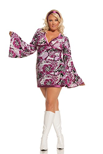 Women's Plus Size Sexy Retro Hippie Cosplay Costume Set ()