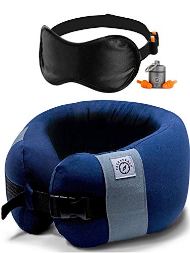 PACK4TRACK Travel Pillow - Versatile Neck Pillow Airplane Travel. Designed to Support Your Neck While Sleeping in Any Sitting Position