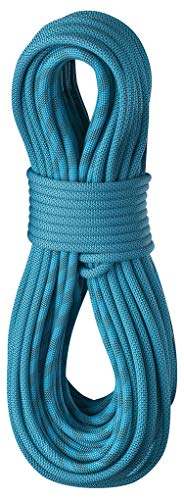 EDELRID Topaz ColorTec 9.2mm Pro Dry Dynamic Climbing Rope - Icemint/Snow 60m ()