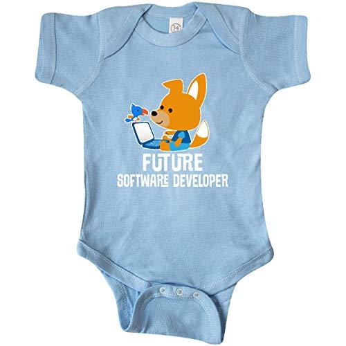 inktastic - Future Software Developer Infant Creeper Newborn Baby Blue - Future Software
