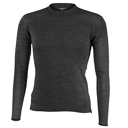 MERIWOOL Men's Merino Wool Midweight Baselayer Crew - Choose Your Size & Color