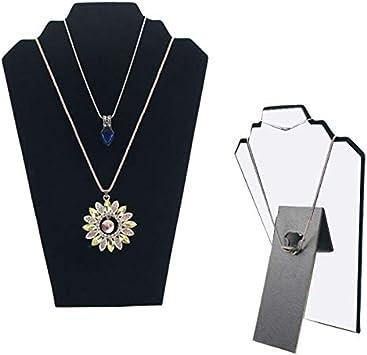 DISTILL Black Velvet Necklace Jewelry Display Organizer Stand 12.5 6 Pack