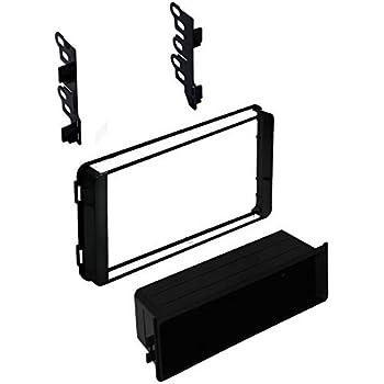 Car Radio Stereo Din 2 Din Gloss Black Dash Kit Harness for 2017 Toyota Corolla