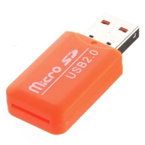 Cl/é USB 2.0 Haute Vitesse Lecteur Carte M/émoire Adaptateur Micro SD TF Reader