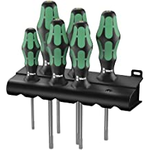 Wera 05028059003 Kraftform Plus 367/6 HF Torx HF Screwdriver Set and Rack, Lasertip, with Holding Function, 6-Piece