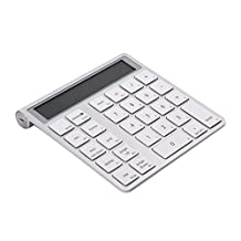 NEW Bluetooth Numeric Keypad with Screen Built-in Calculator Tablet 28 Keys Aluminum for Microsoft Mac Vista Win 7