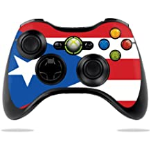 MightySkins Skin Compatible with Microsoft Xbox 360 Controller - Puerto Rican Flag | Protective, Durable, and Unique Vinyl wrap Cover | Easy to Apply, Remove, and Change Styles | Made in The USA
