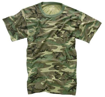 Rothco Vintage T-Shirt, Woodland Camo, 2X (Camo Shorts Woodland)