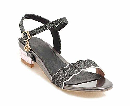 SHINIK Femmes Peep-Toe Glamour Roman Sandales Talon D