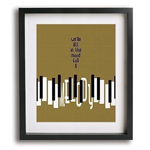 Piano Man | Billy Joel inspired song lyric typography art print music poster